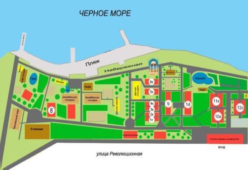 Территория пансионата Кабардинка